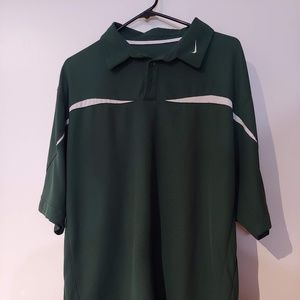 Green 1/4 button down Nike Polo Size Large